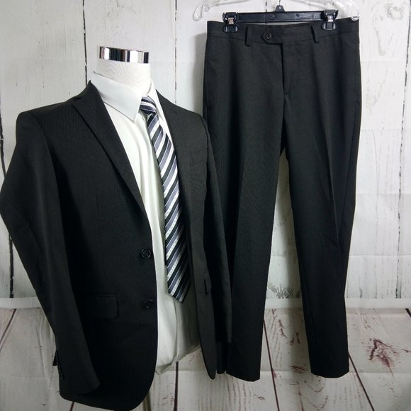 MW Other - MW Slim Fit 36S 2 Button Brown Pinstripe 2pc Suit